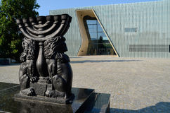 POLIN Museum of the History of Polish Jews. The museum is located in Warsaw (Poland) in a place where during the Second World War, the Nazis established a ghetto Royalty Free Stock Image