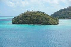 Polinesia francese tropicale di Pacifico dell'isola di alta vista Fotografia Stock Libera da Diritti