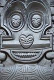 Polinezyjczyk kamienna statua fotografia royalty free