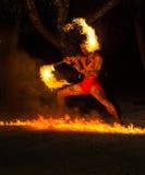 Polinezyjczyka pożarniczy tancerz Zdjęcie Stock