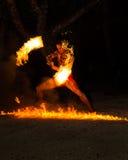 Polinezyjczyka pożarniczy tancerz Zdjęcia Stock