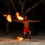 Polinezyjczyka pożarniczy tancerz Obraz Stock