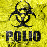Polio concept background Stock Image
