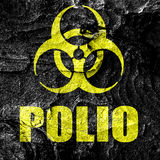 Polio concept background Royalty Free Stock Photography