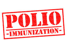 POLIO IMMUNIZATION. Red Rubber Stamp over a white background Royalty Free Stock Images