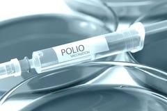 Polio szczepienie fotografia stock