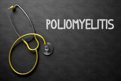Poliomyelitis - Tekst op Bord 3D Illustratie Stock Afbeelding