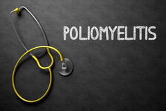 Poliomyelitis - Text on Chalkboard. 3D Illustration. Stock Image