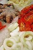 Polipo, anelli più ed aragosta Fotografia Stock Libera da Diritti