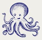 Polipo di tentacoli dell'illustrazione Immagini Stock