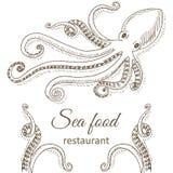 Polipo e tentacoli royalty illustrazione gratis