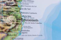 Polis ³ Florianà на карте стоковые фото