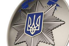 Polis Badge Arkivfoto