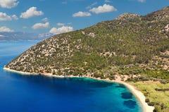Polis beach in Ithaki, Greece Stock Photography