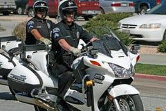 Polis de motocicleta Foto de archivo