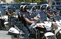 Polis de motocicleta Fotos de archivo