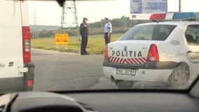 Polis de tráfico almacen de video