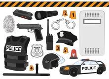 polis det isolerade begreppet 3d framför säkerhet vit Fotografering för Bildbyråer