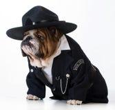 polis för designillustrationtjänsteman dig Arkivbild