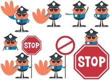 polis för designillustrationtjänsteman dig Royaltyfri Foto