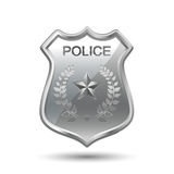 polis för emblemdesignillustration Royaltyfri Illustrationer