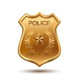 polis för emblemdesignillustration Stock Illustrationer