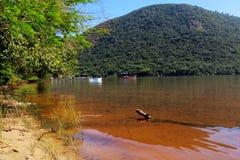 Polis för ³ för Lagoa da Conceição em Florianà - Santa Catarina - Brasilien royaltyfri foto