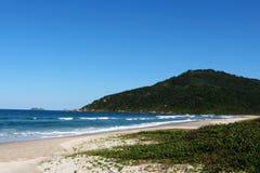 ³polis för Praia Brava - FlorianÃ, Santa Catarina - Brasilien Arkivfoto