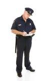 polis för tjänsteman för huvuddelstämning full Arkivbild