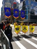 Polis Guards en ståta i New York City, NYC, NY, USA Arkivbild