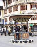 Polis i Thimpu Fotografering för Bildbyråer