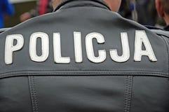 polis polerat tecken Arkivfoto