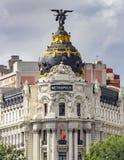 Polis van Edificiometrã ³, Madrid stock afbeeldingen