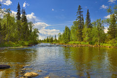 Polisarka river. Kola Peninsula. Royalty Free Stock Photos