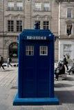 Polisask i Glasgow Tardis Dr Who Arkivbild