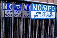 Polisbarrikader i New Orleans royaltyfri fotografi
