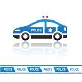 Polisbil vektor illustrationer