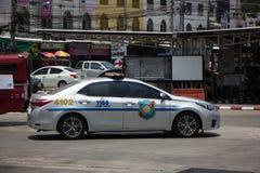 Polisbil av den turist- polisen Toyota Corolla Altis royaltyfri foto