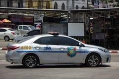 Polisbil av den turist- polisen Toyota Corolla Altis royaltyfria foton