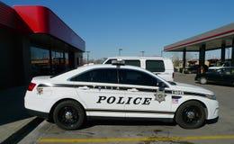 Polisbil eller kryssare i Tulsa, Oklahoma Arkivfoton