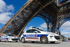 Polisbil i Paris Fotografering för Bildbyråer