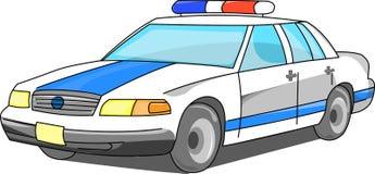 Polisbil i tre fjärdedelar Royaltyfri Bild