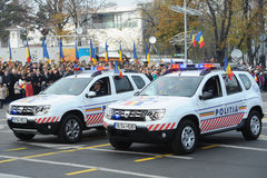 Polisbilar Arkivfoton