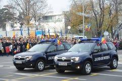 Polisbilar Arkivbild