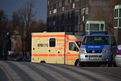 Polisbilar och nöd- appeller Royaltyfri Foto