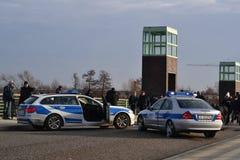 Polisbilar och nöd- appeller Royaltyfri Bild