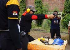 Polisen övar skytte Royaltyfri Fotografi