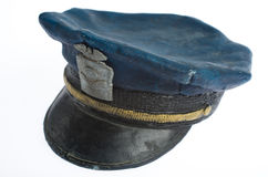 Polisen Cap sidosikt Royaltyfri Fotografi