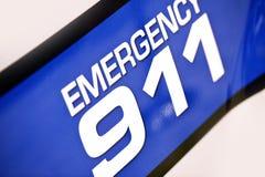 Polisen för nödläge 911 Royaltyfri Fotografi