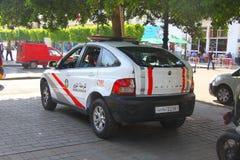 Polisen i den tunisiska staden av Sousse Arkivbild